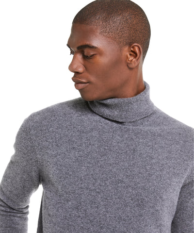 Cashmere Turtleneck in Charcoal Grey