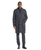 Italian Wool Boucle Herringbone Topcoat in Charcoal Alternate Image