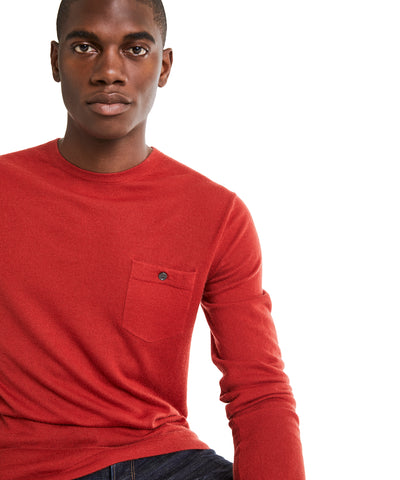 Cashmere T-Shirt Sweater in Burnt Orange