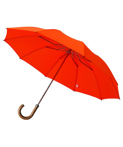 London Undercover Maple Crane Crook Handle Orange Telescopic Foldable Umbrella