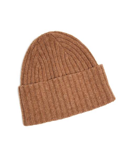 Drake's Brushed Merino Wool Hat in Tan