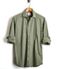 HAMILTON END ON END DRESS SHIRT in OLIVE Alternate Image