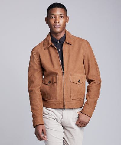 Italian Leather Aviator in Tan