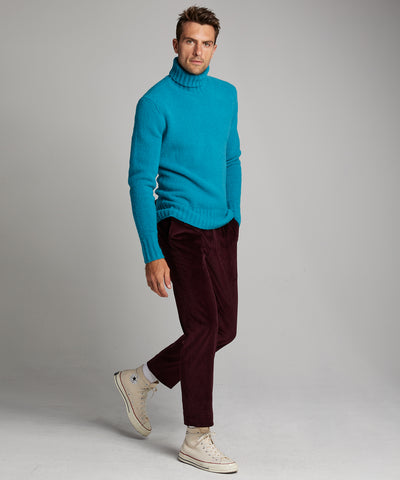 Chunky Turtleneck in Turquoise