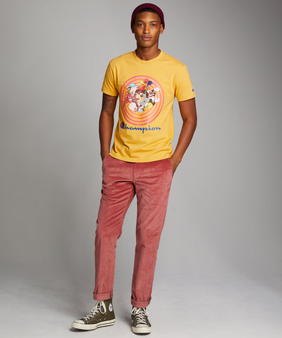 Champion + Looney Tunes Gang Tee in Warm Gold
