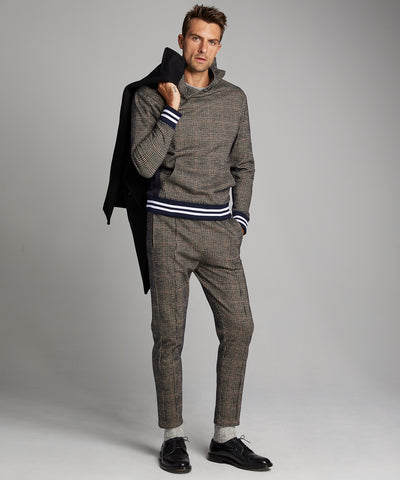 Glen Plaid Italian Wool Jogger