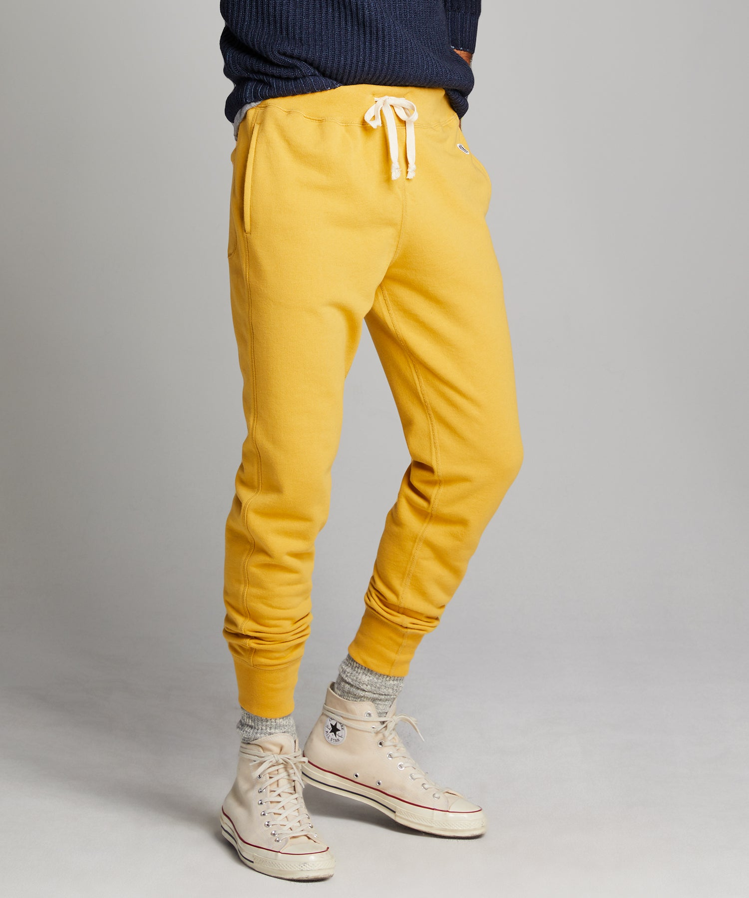 Terry Slim Jogger Sweatpant in Goldenrod
