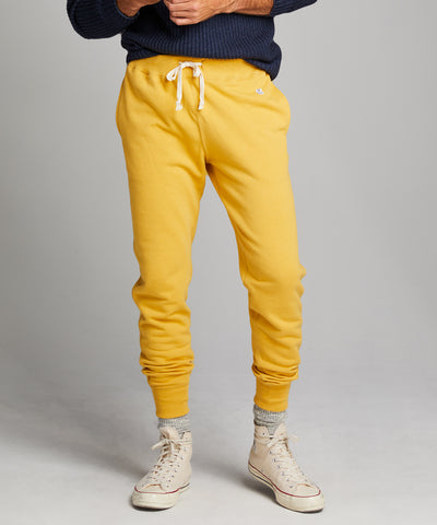 Lightweight Slim Jogger Sweatpant in Goldenrod