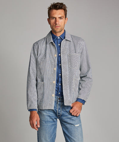 Indigo Stripe Chore Coat