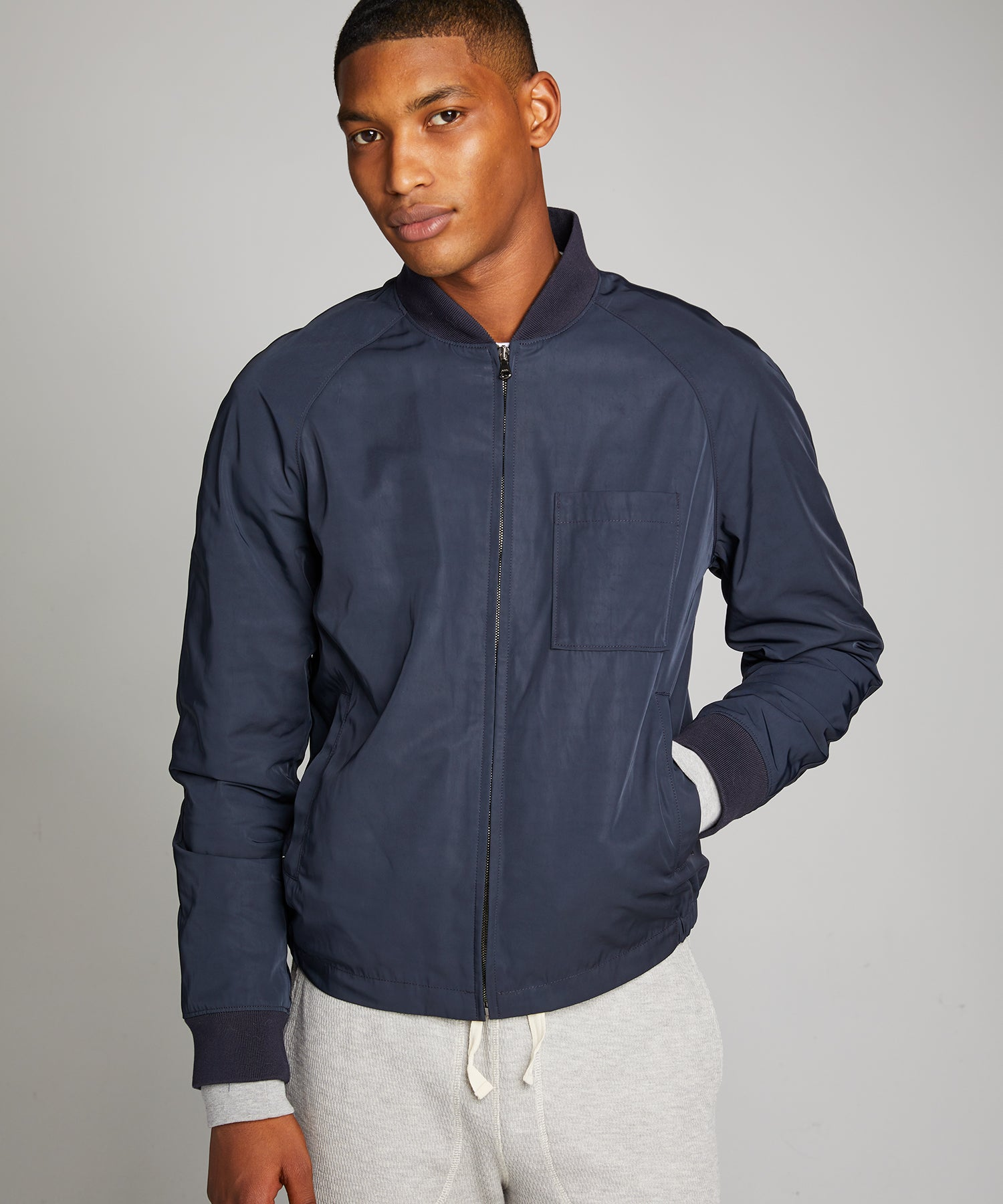 Jet Bomber Jacket in Navy