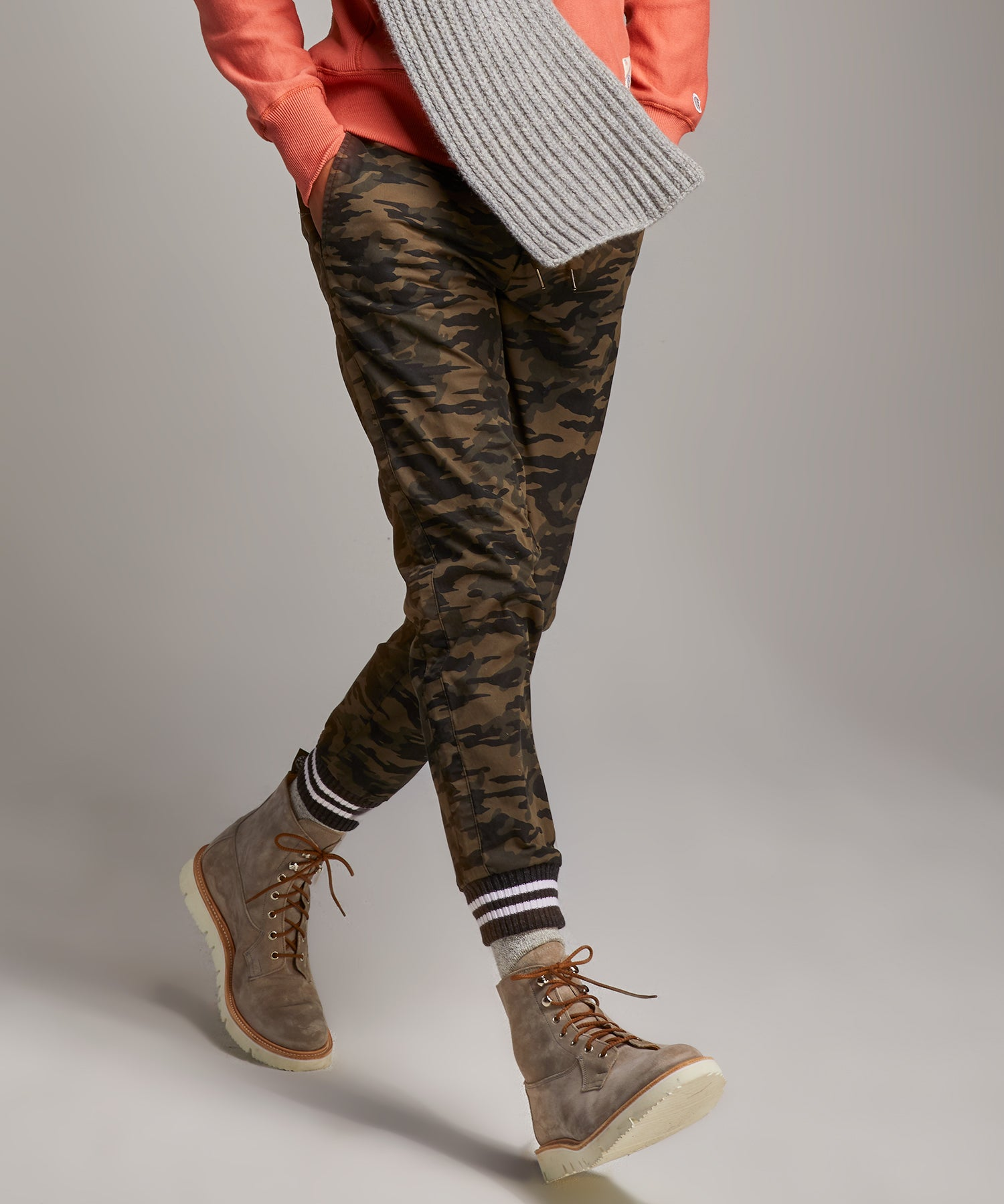 Olive Camo Cotton Joggers