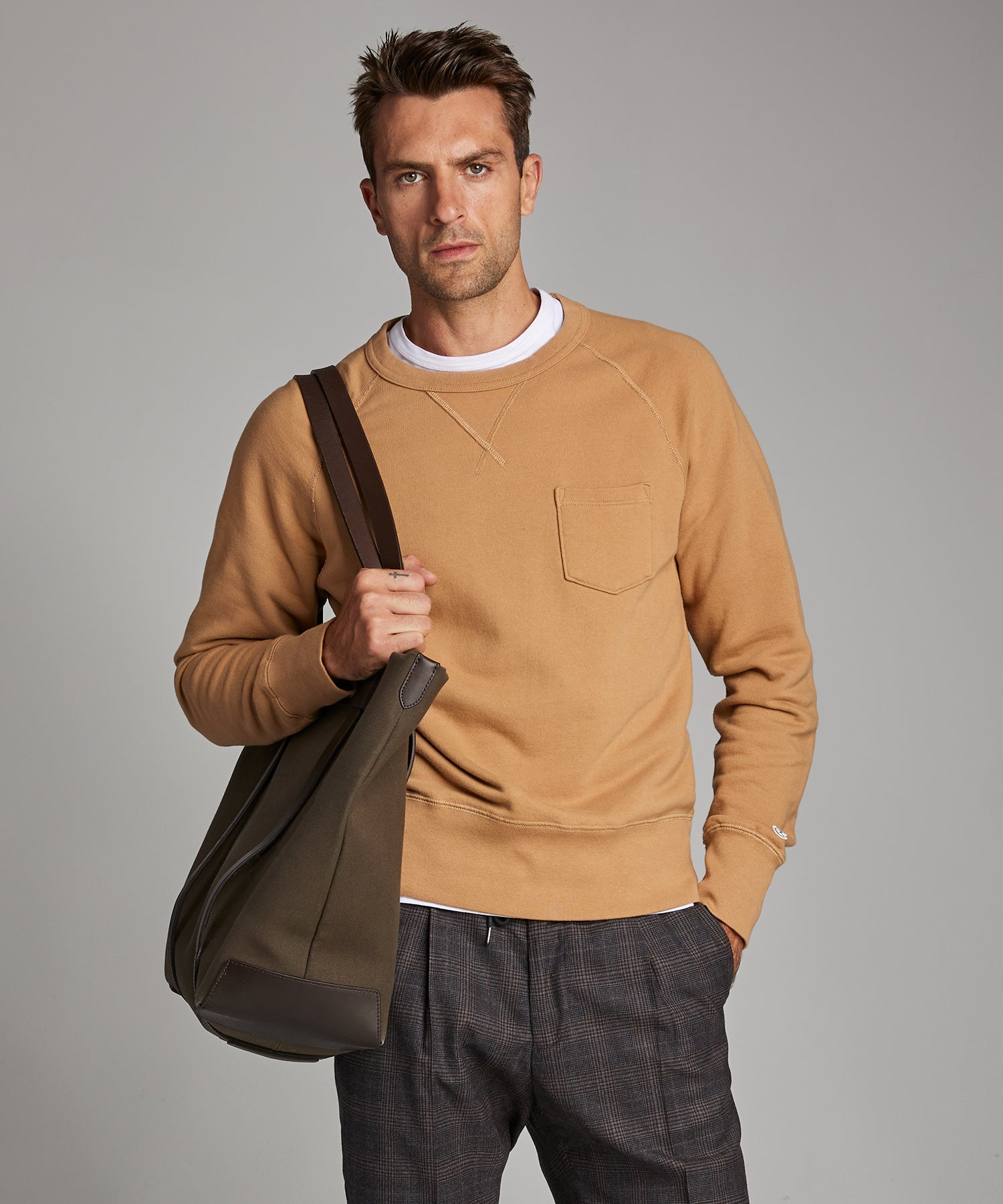 Terry Pocket Sweatshirt in Barley