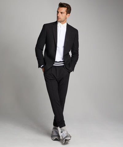 Knit Traveler Suit Jacket in Charcoal