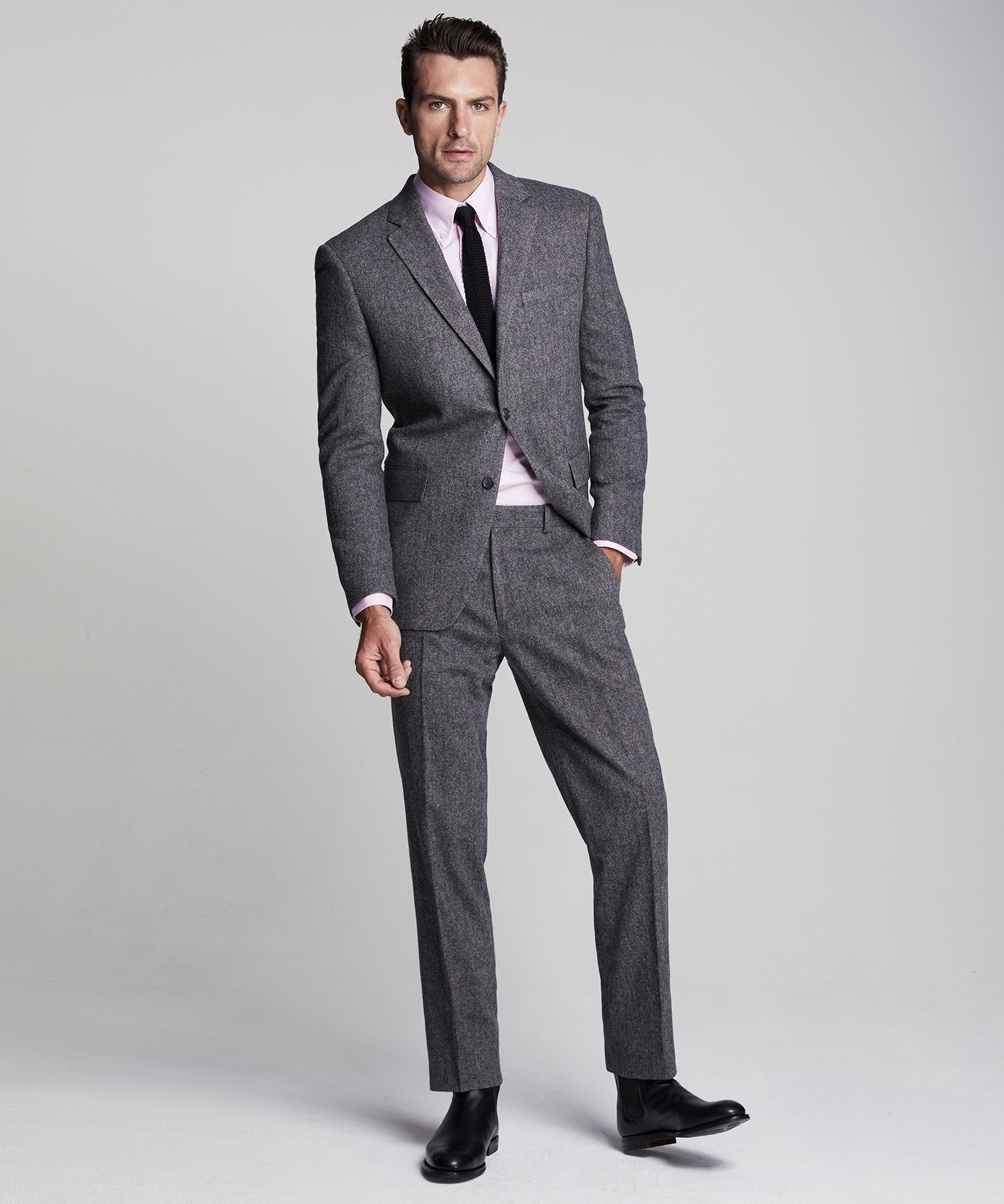 Wool Donegal Sutton Suit in Grey