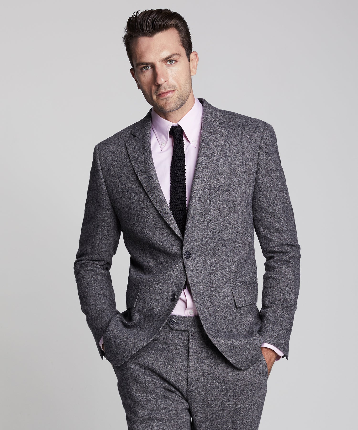 Wool Donegal Sutton Suit Jacket in Grey