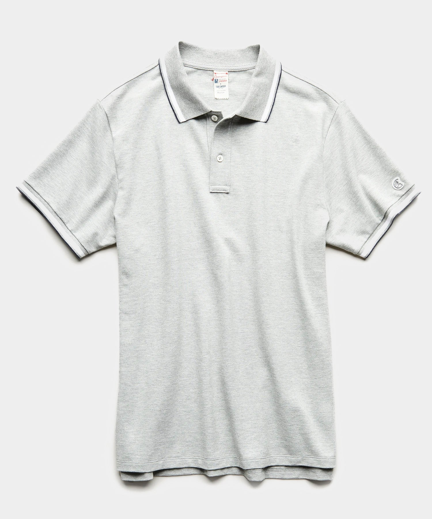 Tipped Polo in Grey Heather
