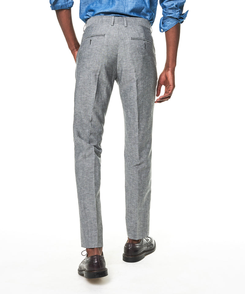 Made In USA Linen Sutton Trouser in Grey