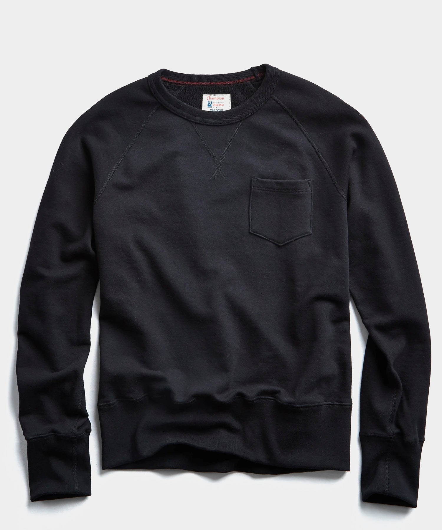 Lightweight Pocket Sweatshirt in Black