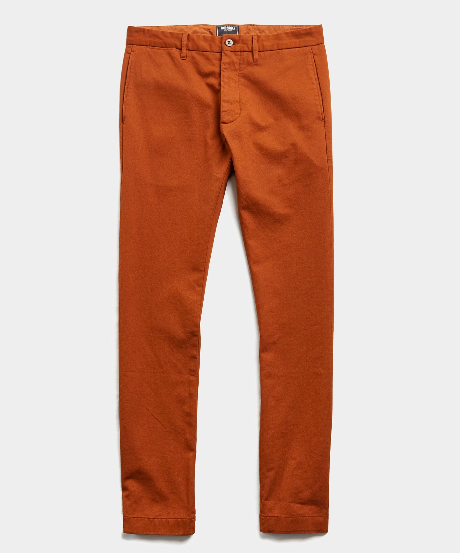 Japanese Garment Dyed Selvedge Chino in Chestnut
