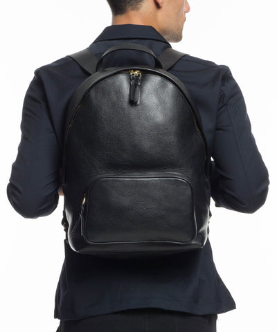 Lotuff Indigo Leather Backpack