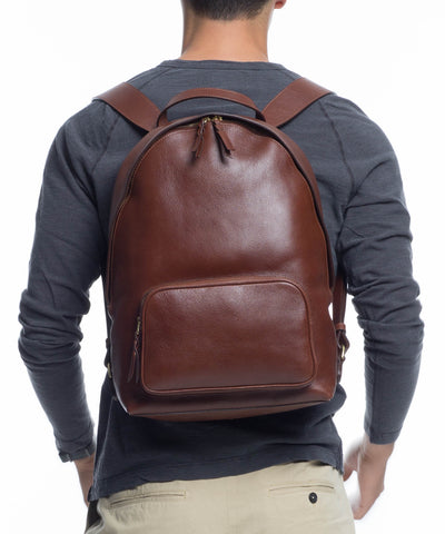 Lotuff Chestnut Leather Backpack