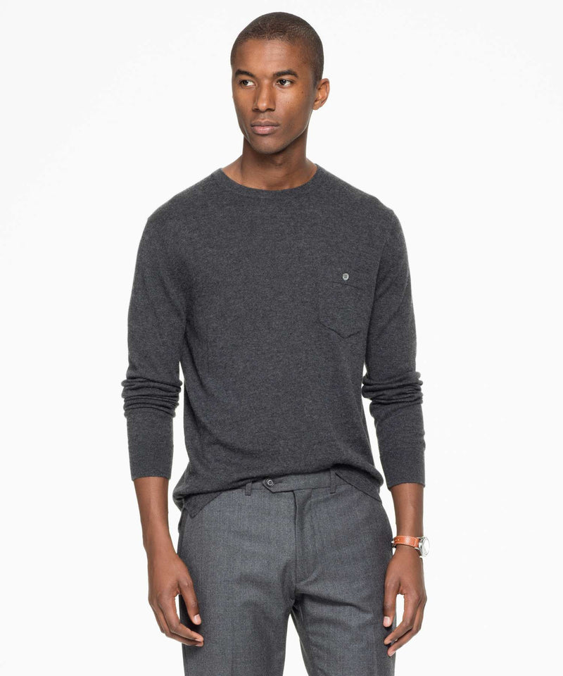Cashmere T-Shirt Sweater in Grey Heather