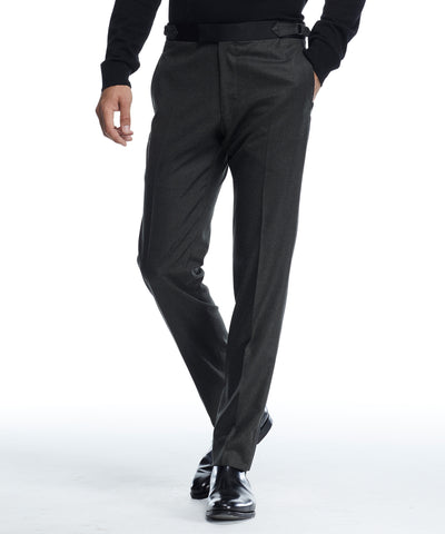 Introducing the Black Label Sutton Tuxedo pant; a modern trim fit for every guy. This Black Label tuxedo is made in the USA with wool from renowned Italian mill Tollegno. It's a versatile and classic style that works with matching jacket or as a foundation piece for other looks. - Trim silhouette. - Un-hemmed. - Italian wool from the Tollegno mill. - Partially
