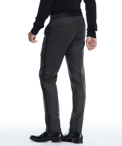 Sutton Tuxedo Pant in Italian Olive Wool Flannel