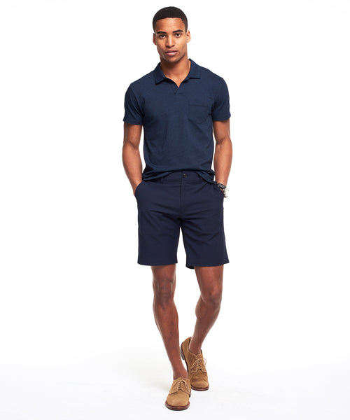 Surplus Shorts In Navy Glen Plaid