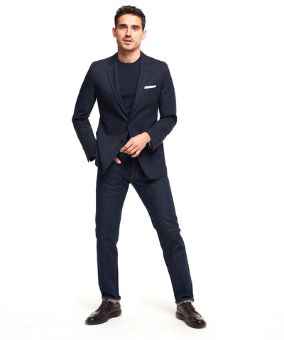 Made in the USA Sutton Unconstructed Sport Coat in Navy