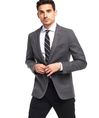 Made in the USA Sutton Unconstructed Sport Coat in Grey