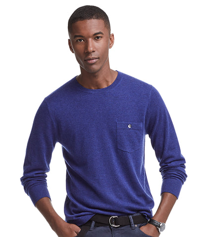 Cashmere T-Shirt Sweater in Blue Heather