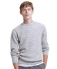 Merino Waffle Crewneck Sweater in Grey Marl Alternate Image