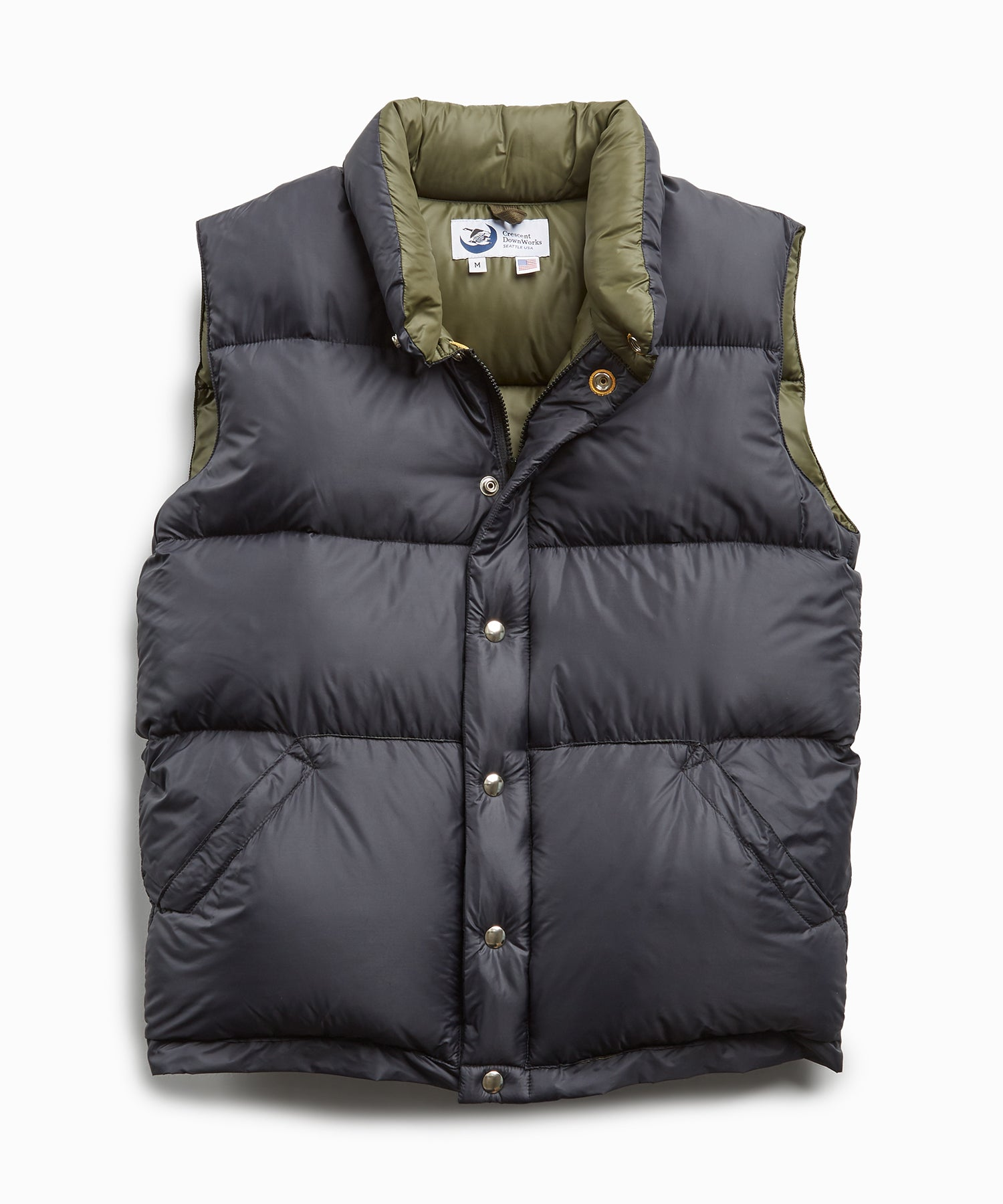 Crescent Down Works + Todd Snyder Black Nylon Vest