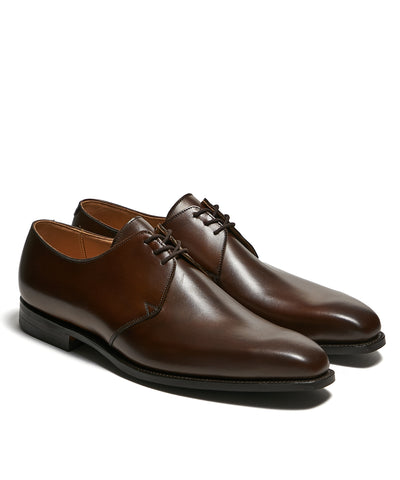 Crockett & Jones Highbury Plain Toe Shoe in Brown Calf
