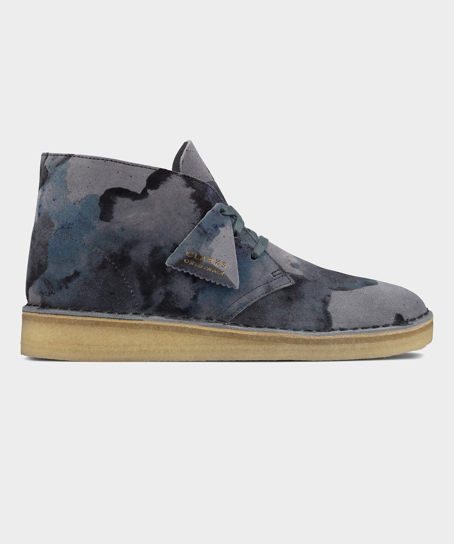 Clarks Desert Coal in Blue Camo