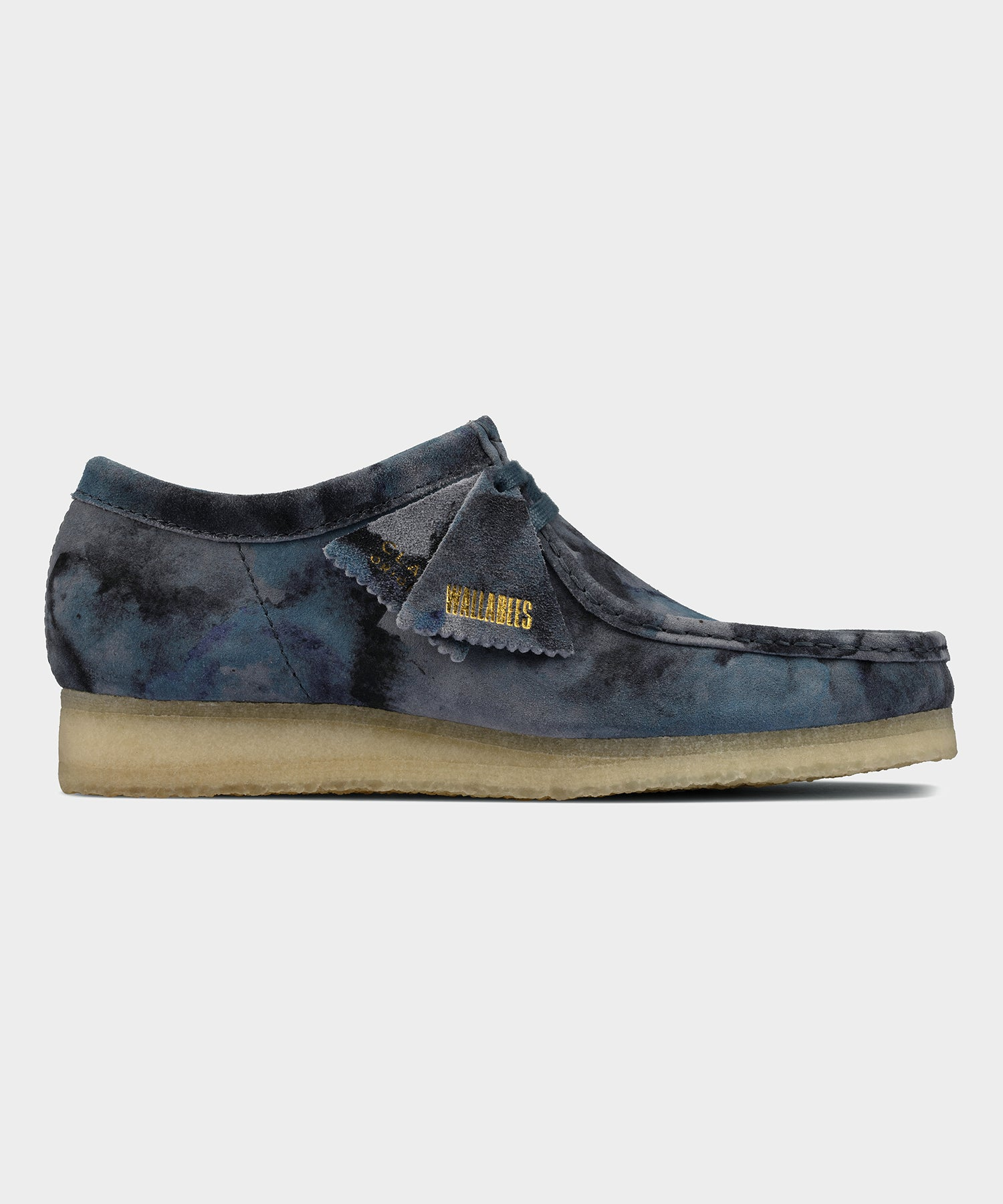 Clarks Wallabee in Blue Camo