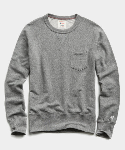 Lightweight Pocket Sweatshirt in Salt and Pepper
