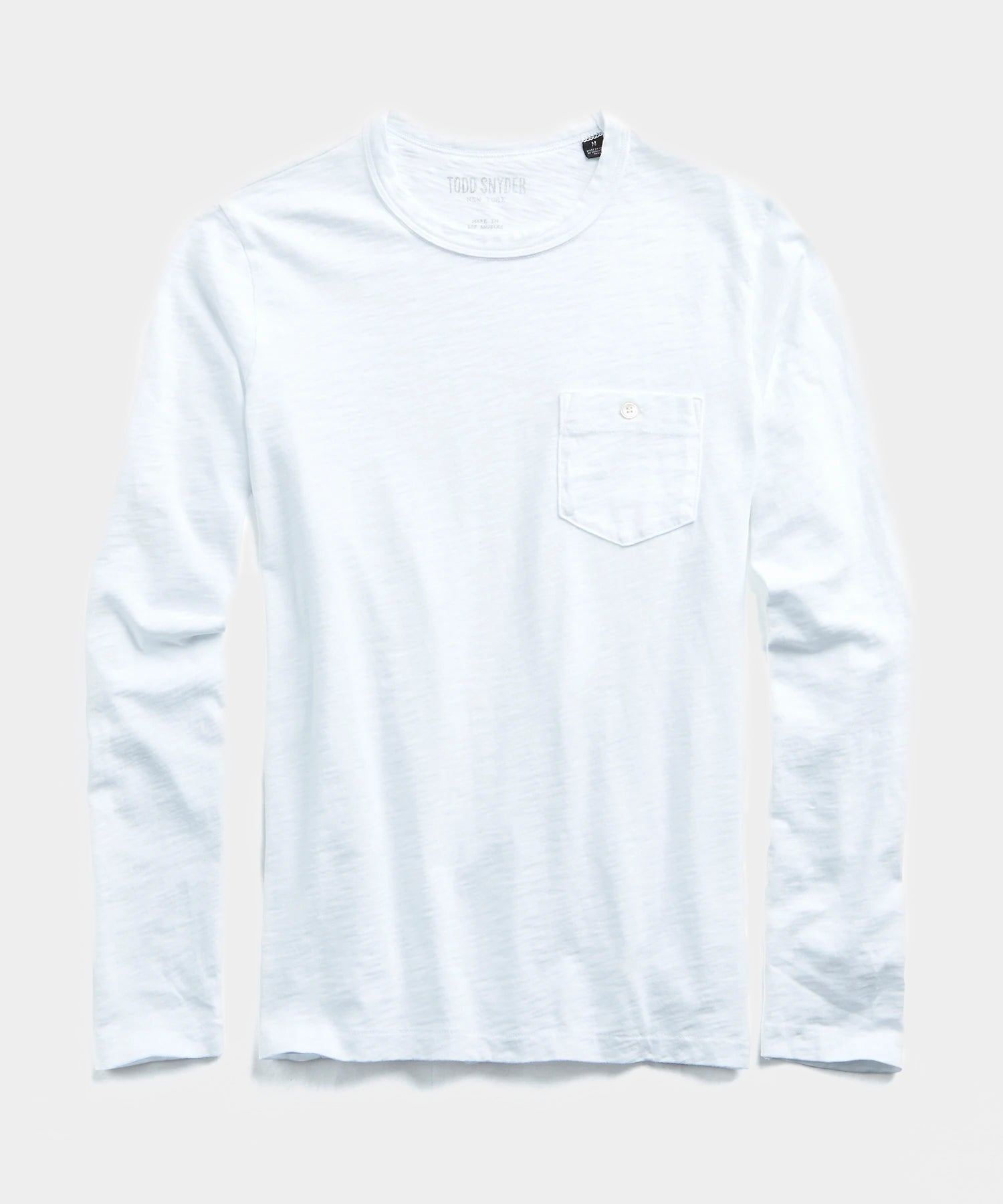 Made in L.A. Slub Jersey Long Sleeve T-Shirt in White