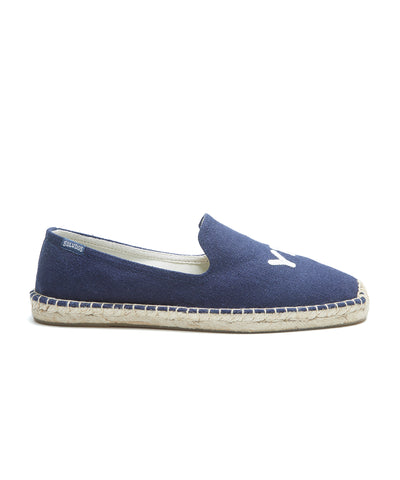 Soludos Equality Smoking Slipper in Midnight Blue
