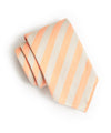 Drakes Orange Herringbone Stripe Tie