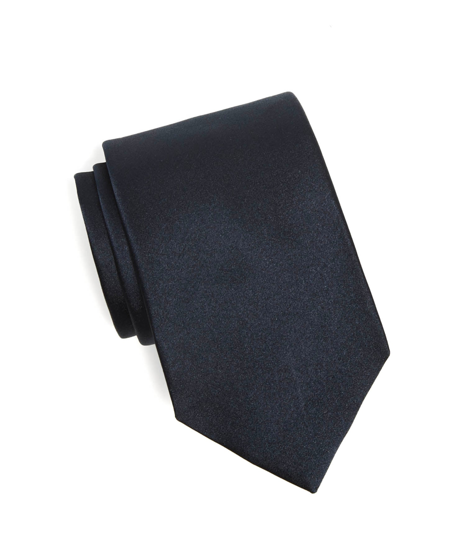 Drake's Solid Silk Tie in Navy