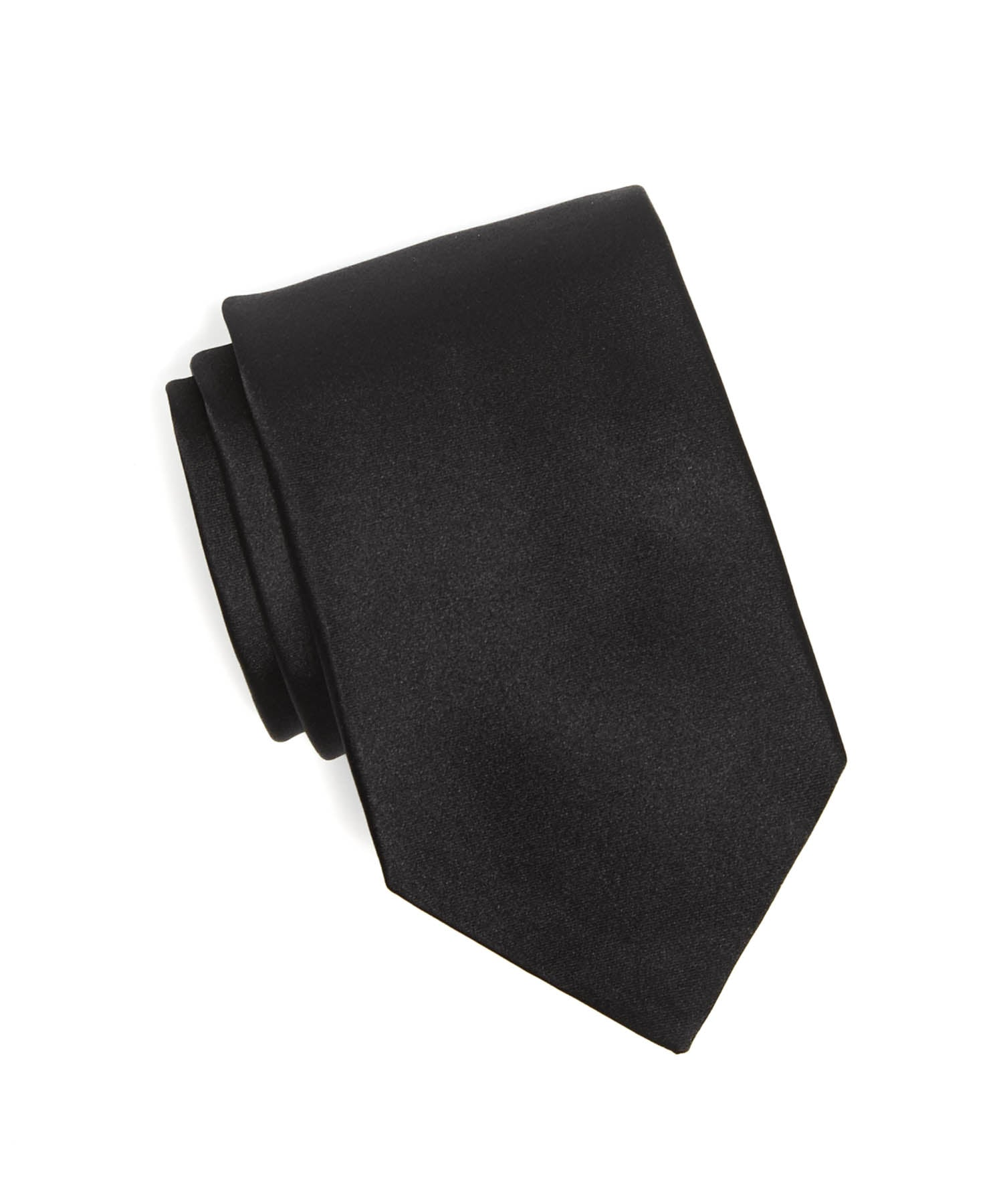 Drake's Silk Solid Tie in Black