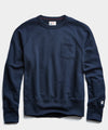 Lightweight Pocket Sweatshirt in Navy