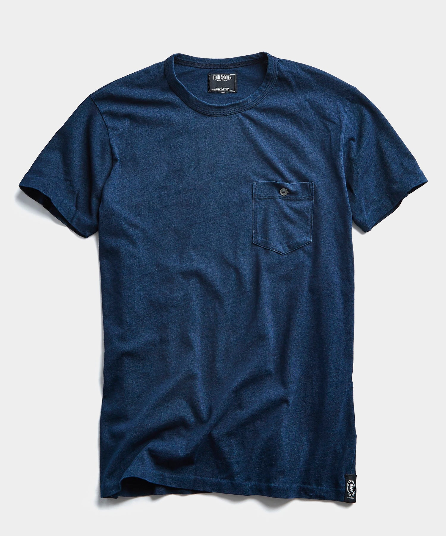 Indigo Homespun Slub Pocket T-Shirt