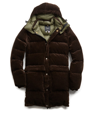 Exclusive Crescent Down + Todd Snyder Cord Parka in Brown