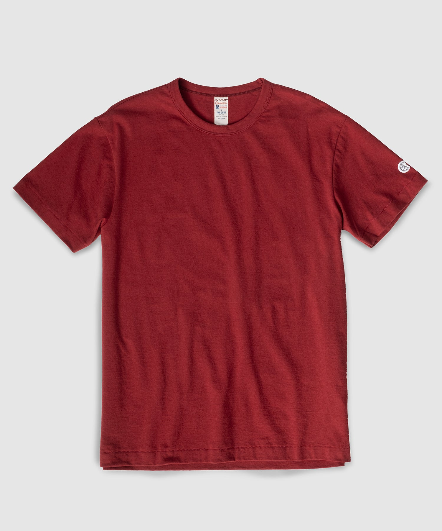 Champion Basic Jersey Tee in Crimson Red