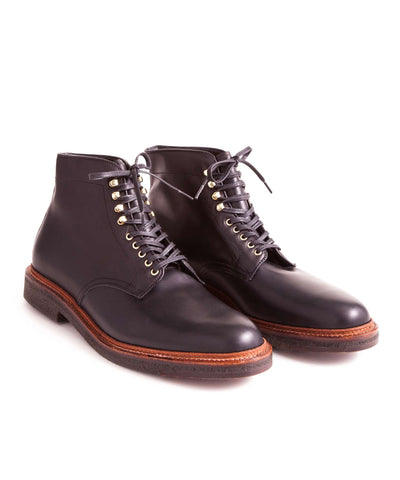 Alden Plain Toe Boot in Black Leather