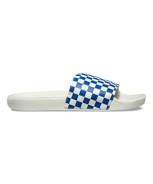 Vans Checkerboard Slide-On Sandal In True Blue