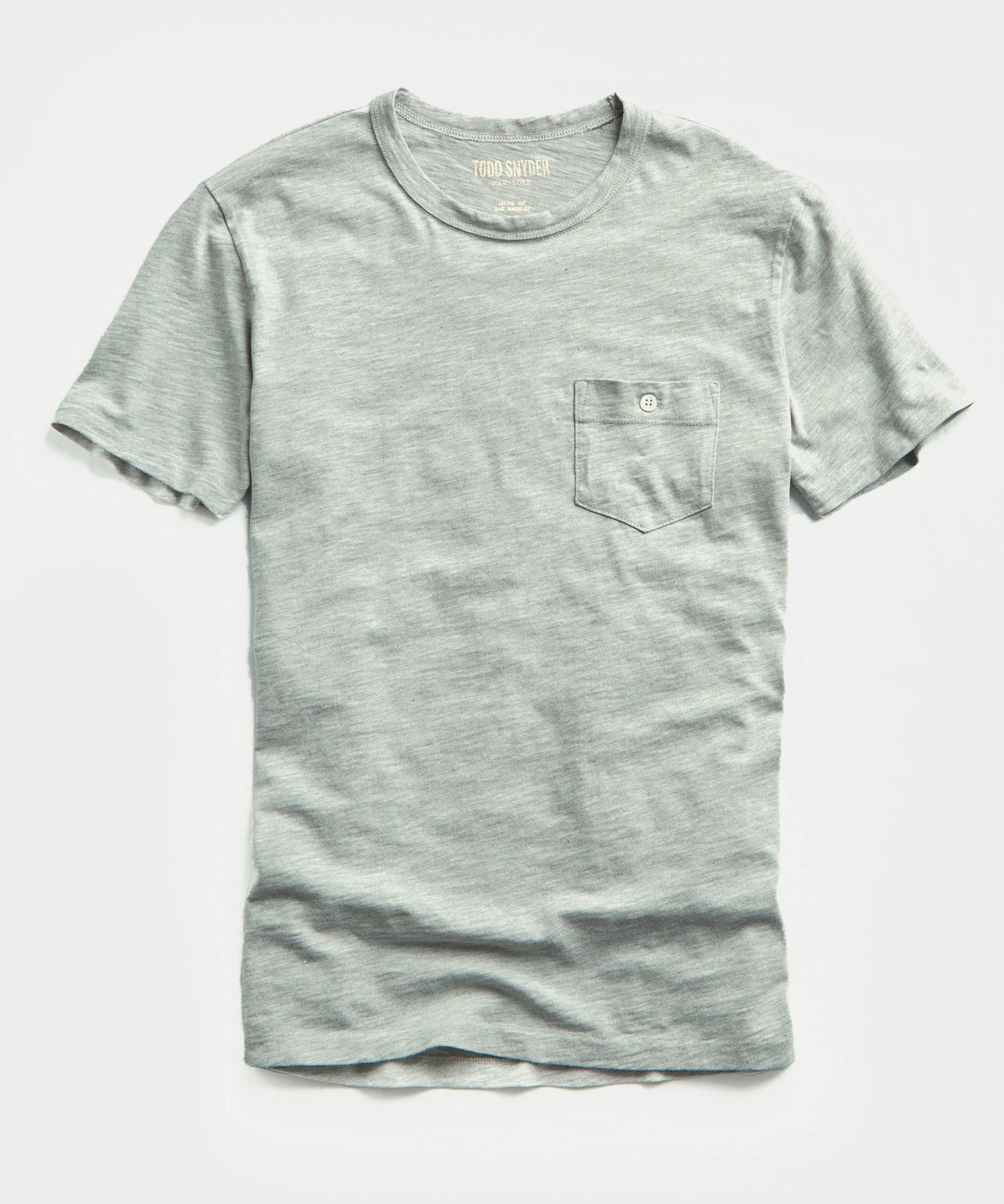Made in L.A. Slub Jersey Pocket T-Shirt in Grey Heather